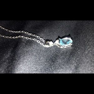 Jewelry - Aqua marine pendant and silver necklace